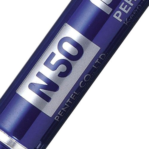 Pentel N50 Permanent Marker Bullet  4.3mm Tip 2.2mm Line Blue Ref N50-C [Pack 12]