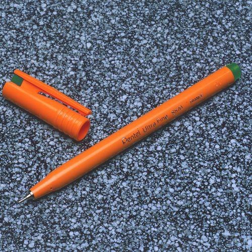 Pentel Ultra Fine Pen 0.6mm line Green PK12