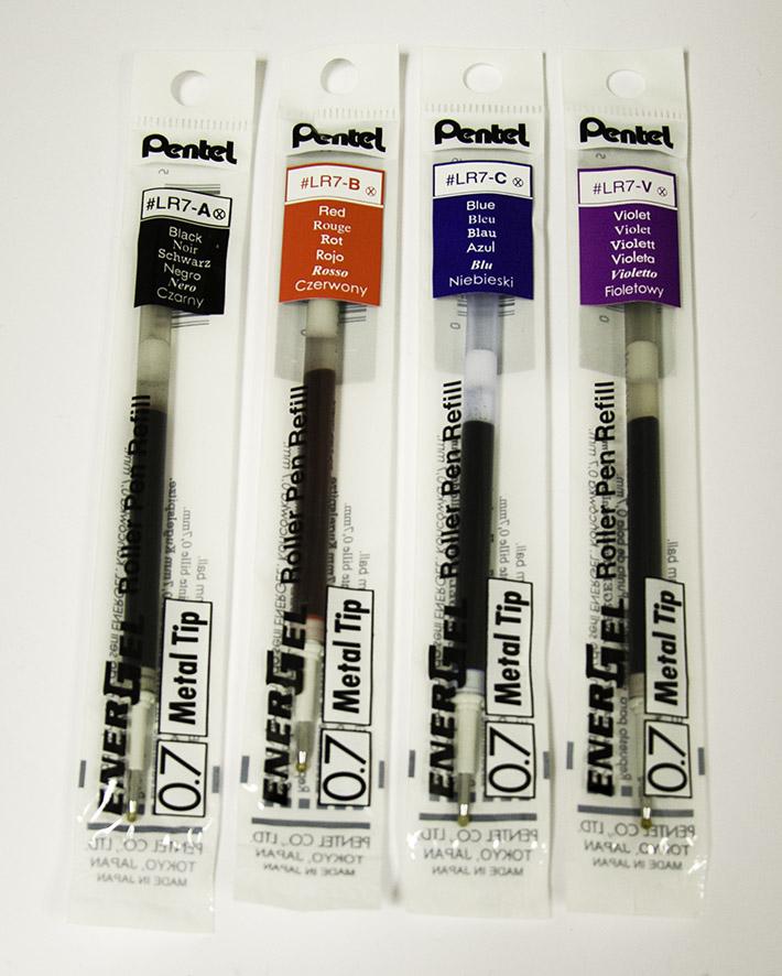 Rollerball Pentel Refill for Pentel EnerGel Pens 0.7mm Tip Black (Pack 12)