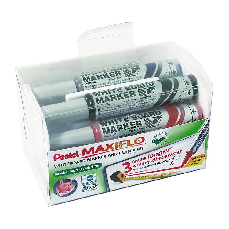 Bullet Marker & Eraser Set Astd PK4