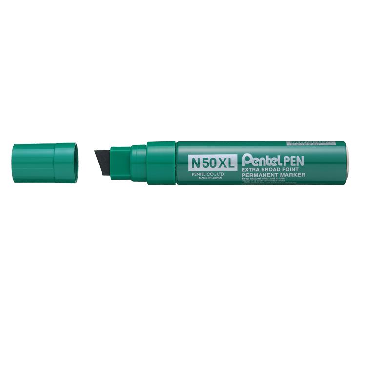 Pentel N50XL-D Jumbo Chisel Tip Marker Green PK6