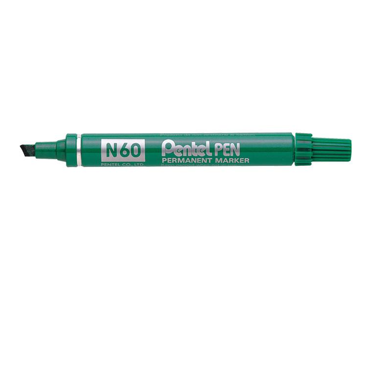N60 Perm Marker Chisel Tip GR PK12