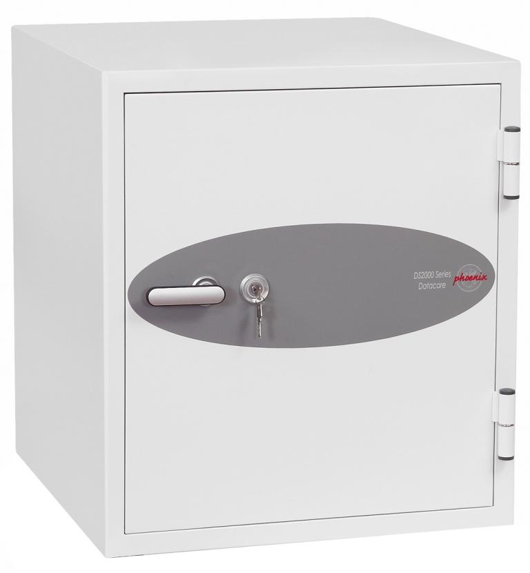 Phoenix Datacare Size 3 Data Safe Key Lock White DS2003K