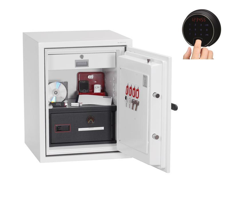 Phoenix Datacombi Size 1 Data Safe Fingerprint Lock White DS2501F