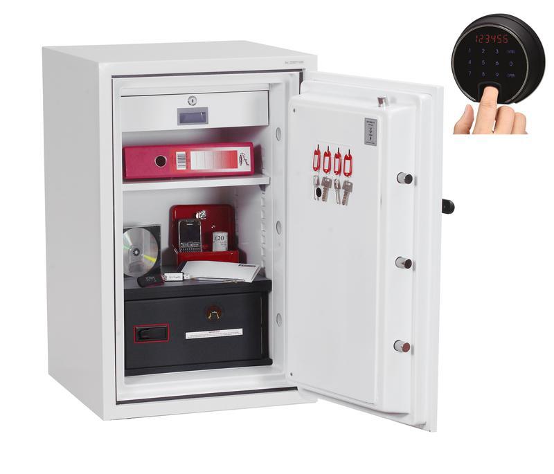 Phoenix Datacombi Size 2 Data Safe Fingerprint Lock White DS2502F