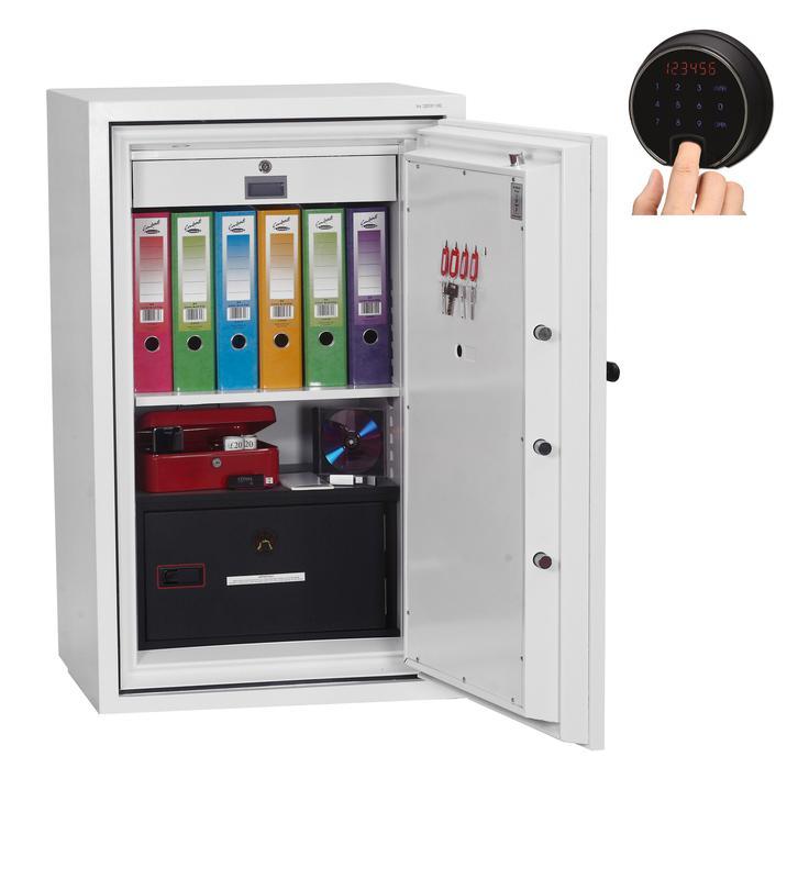 Phoenix Datacombi Size 3 Data Safe Fingerprint Lock White DS2503F