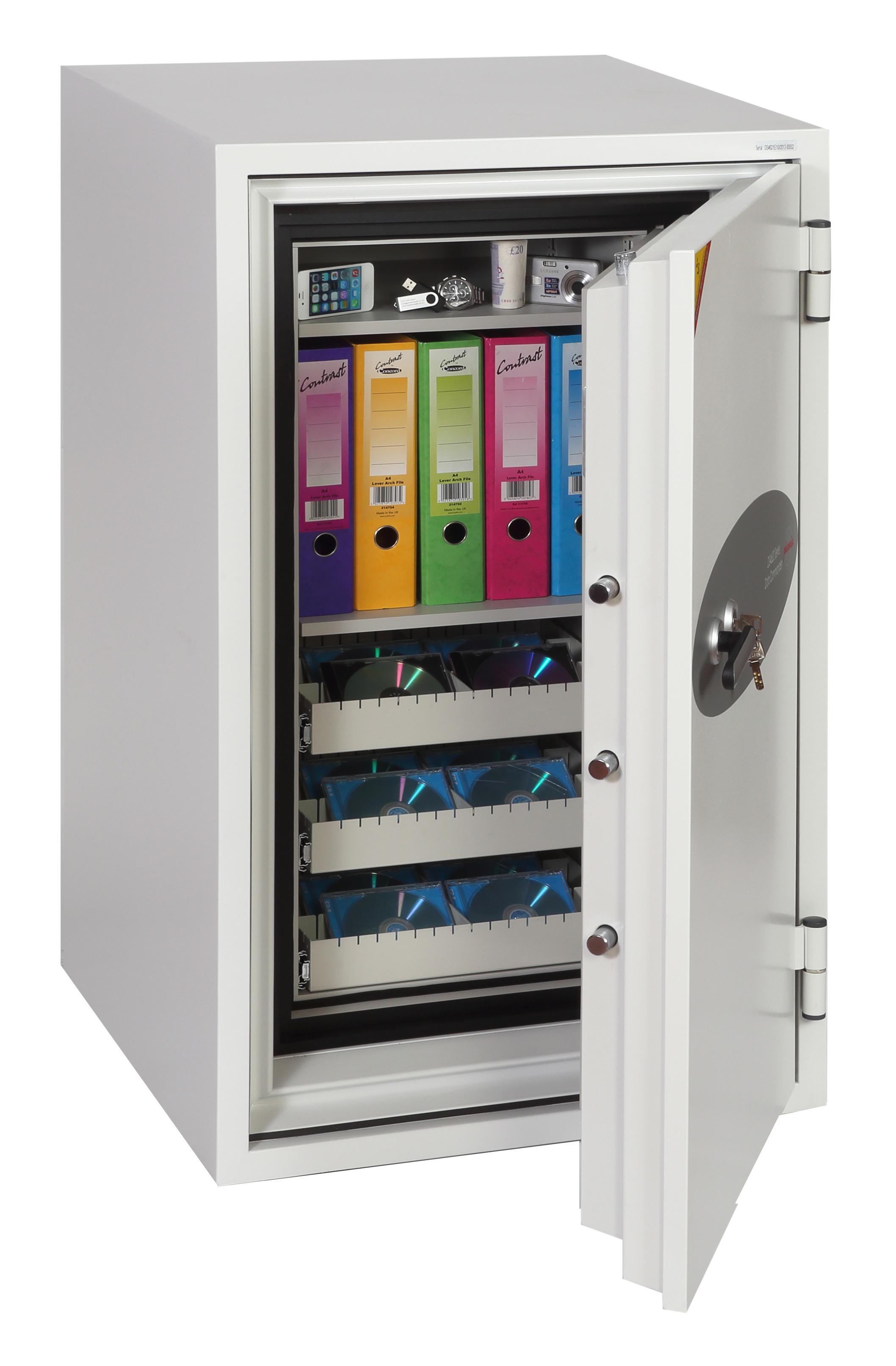Phoenix Data Commander Size 1 Data Safe Key Lock White DS4621K