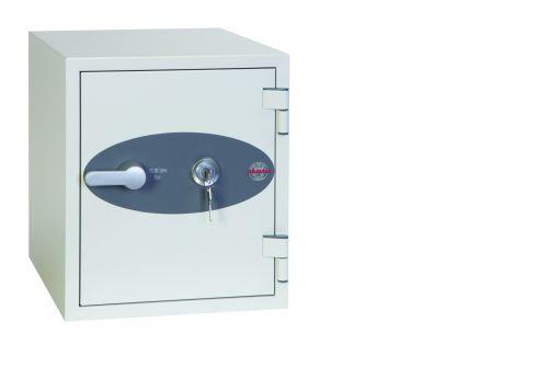 Phoenix Titan Size 2 Fire and Security Safe Key Lock White FS1282K