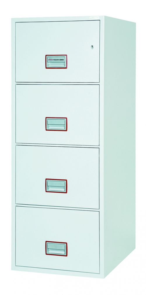 Phoenix World Class Vertical Fire File Cabinet 4 Drawer 530x675x1495mm FS2254K