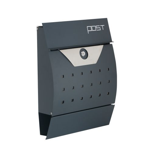 Image for Phoenix Estilo Front Loading Letter Box MB0122KA in Graphite Grey with Key Lock