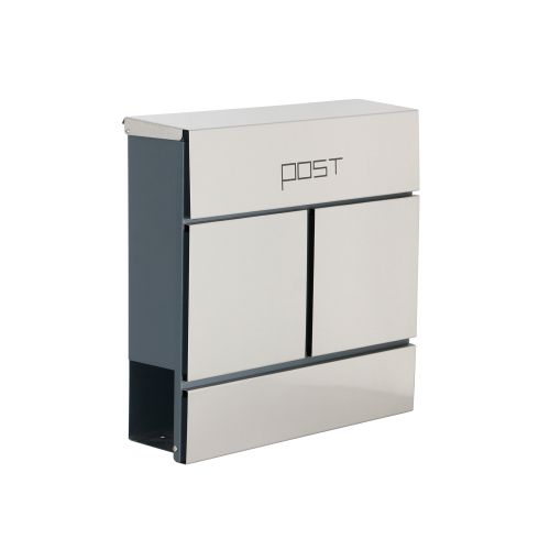 Image for Phoenix Estilo Top Loading Letter Box MB0124KS in Stainless Steel with Key Lock