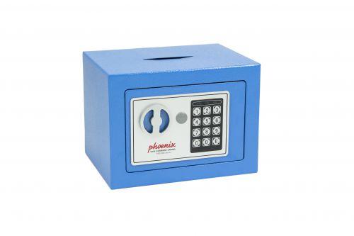 Phoenix cmpct Home Safe Electrnic Lock & dposit Slot Blue