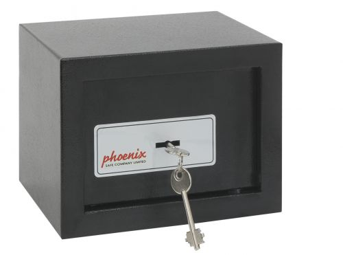 Phoenix Compact Home Office Security Safe Key Lock Black