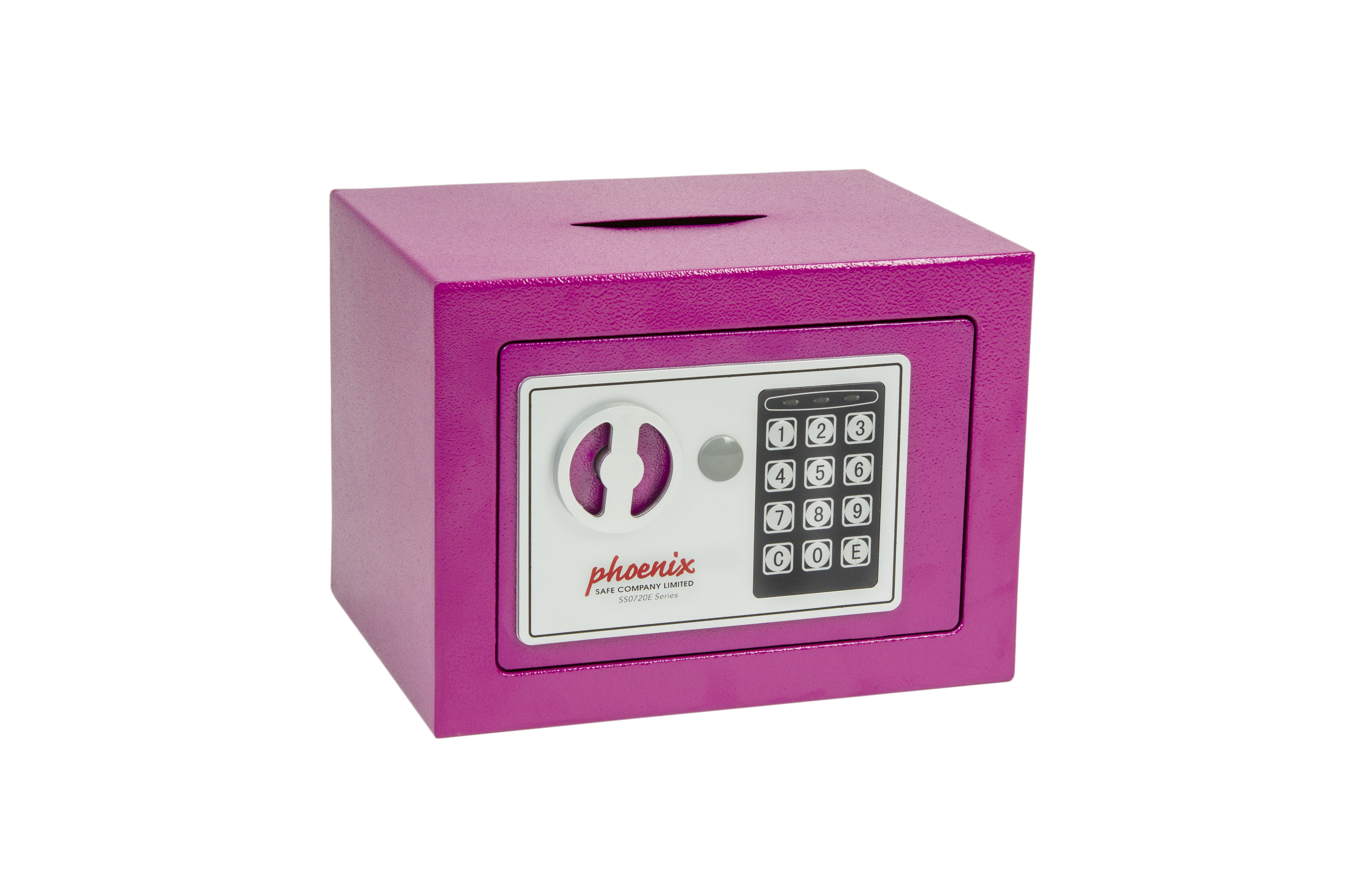 Phoenix Compact Home Security Safe Electronic Lock and Deposit Slot Pink SS0721EPD