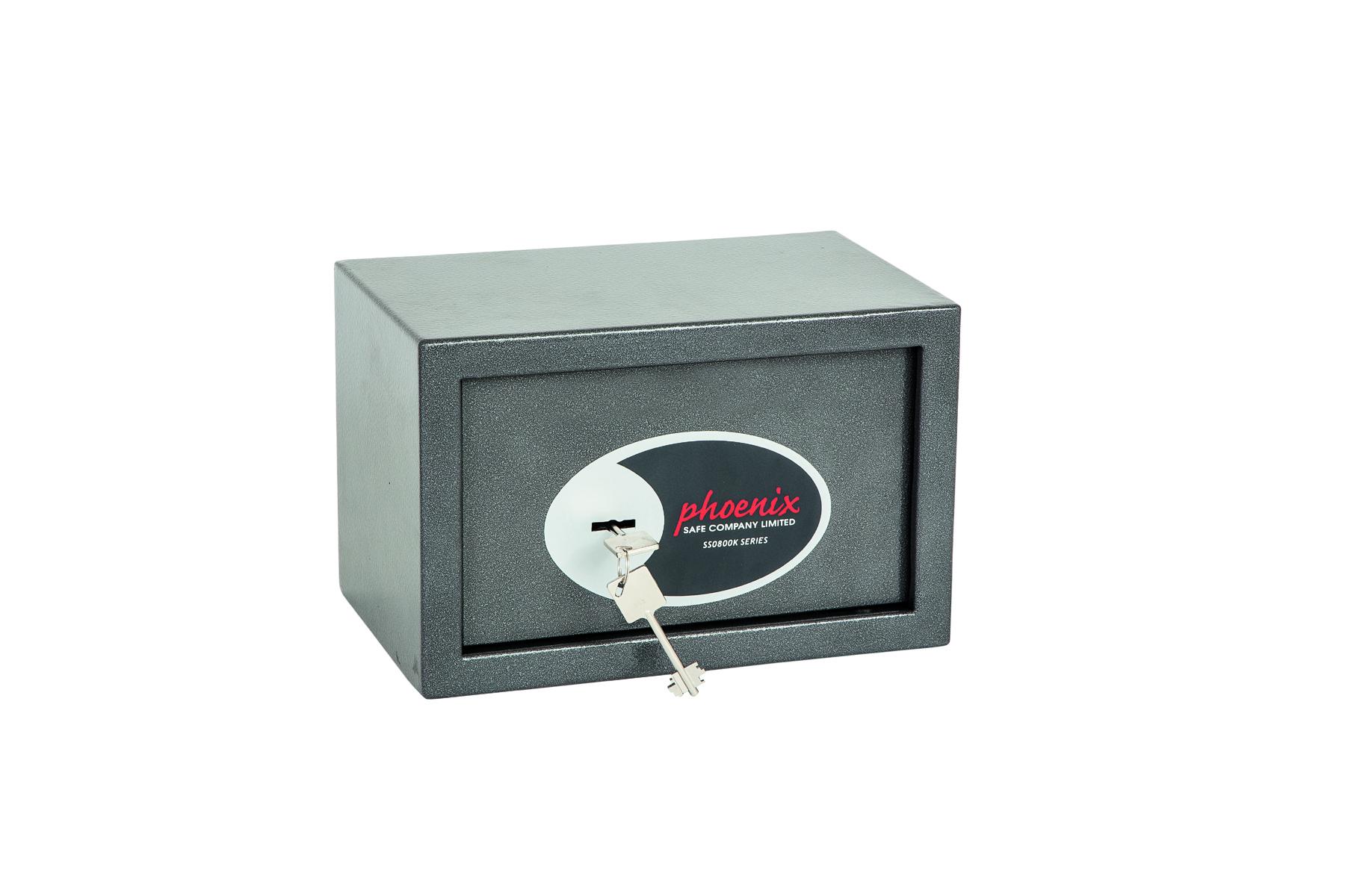 Phoenix Vela Home and Office Size 1 Security Safe Key Lock Graphite Grey SS0801K