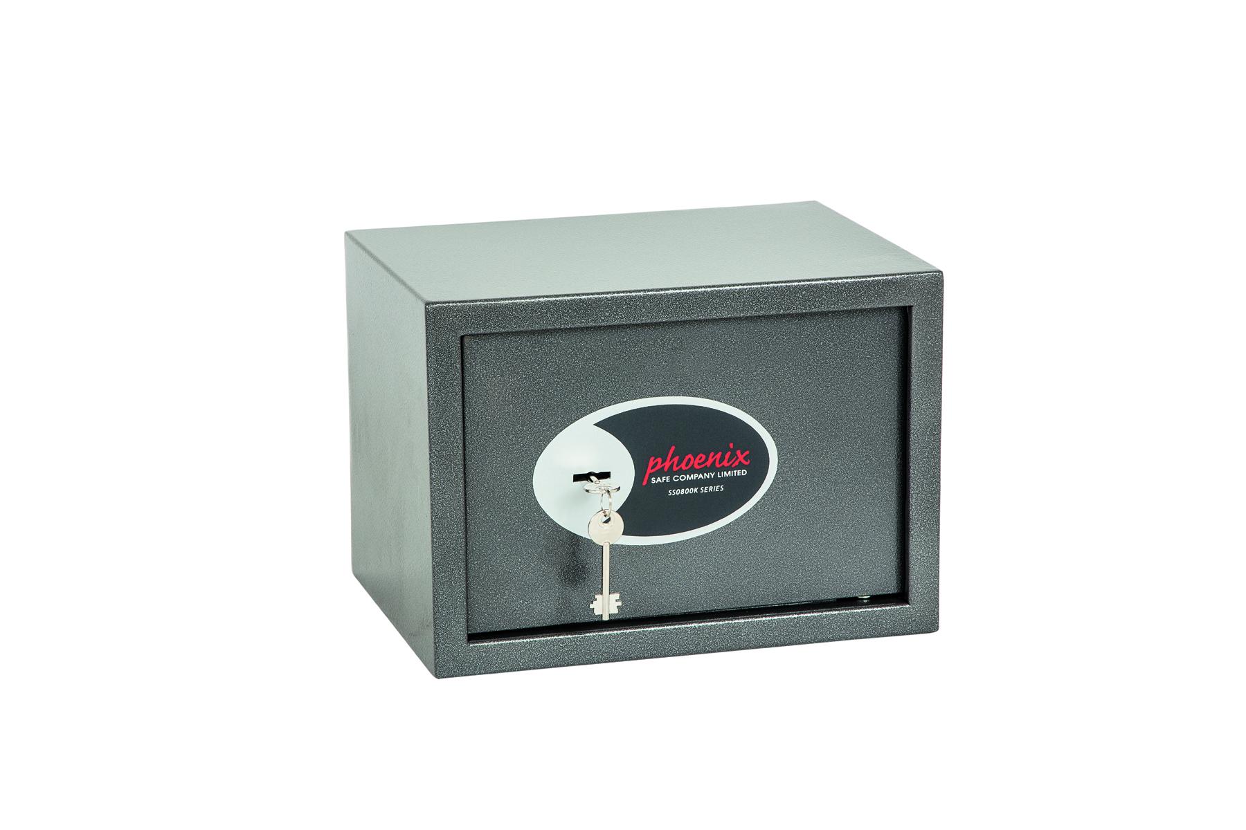 Phoenix Vela Home and Office Size 2 Security Safe Key Lock Graphite Grey SS0802K