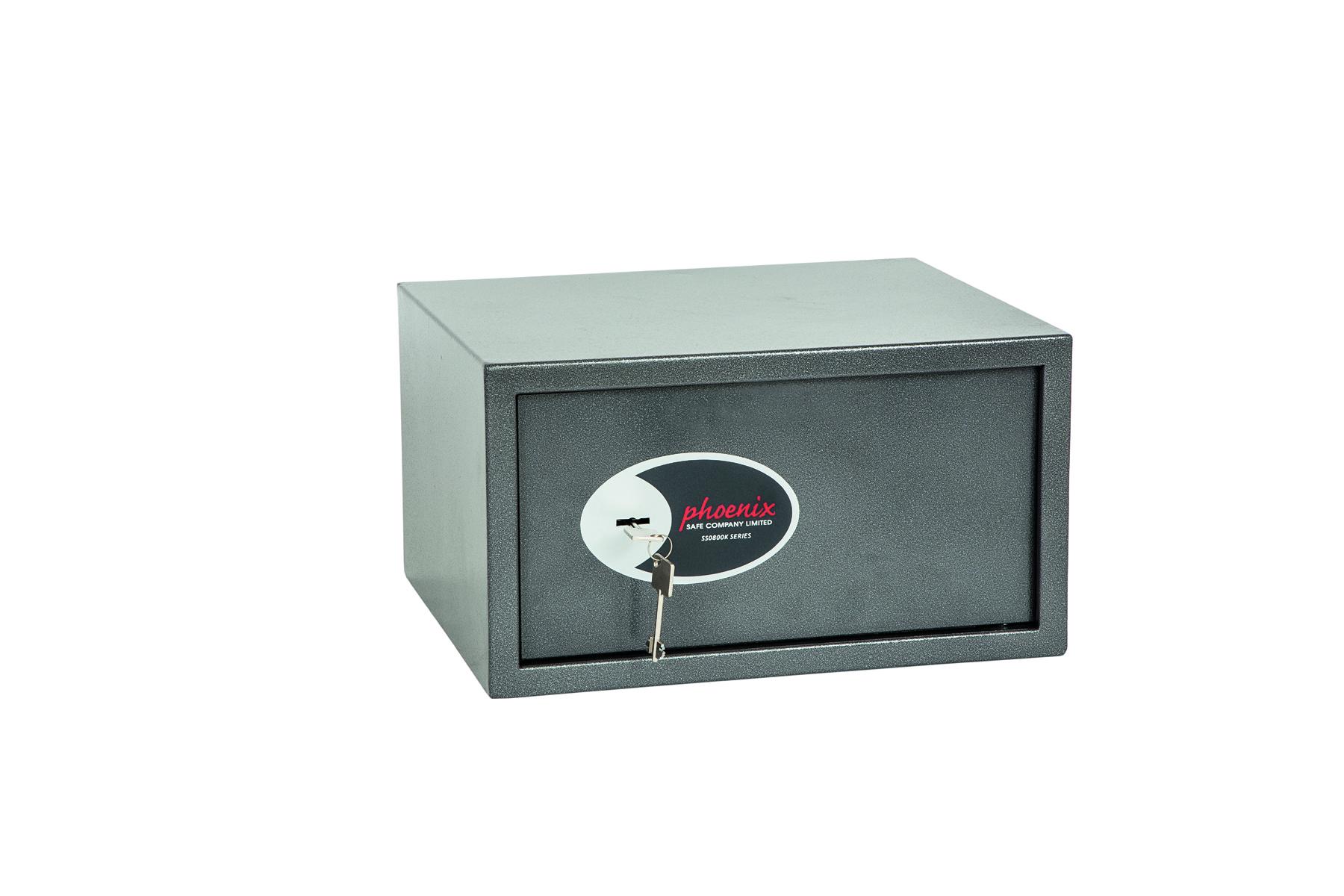 Phoenix Vela Home and Office Size 3 Security Safe Key Lock Graphite Grey SS0803K