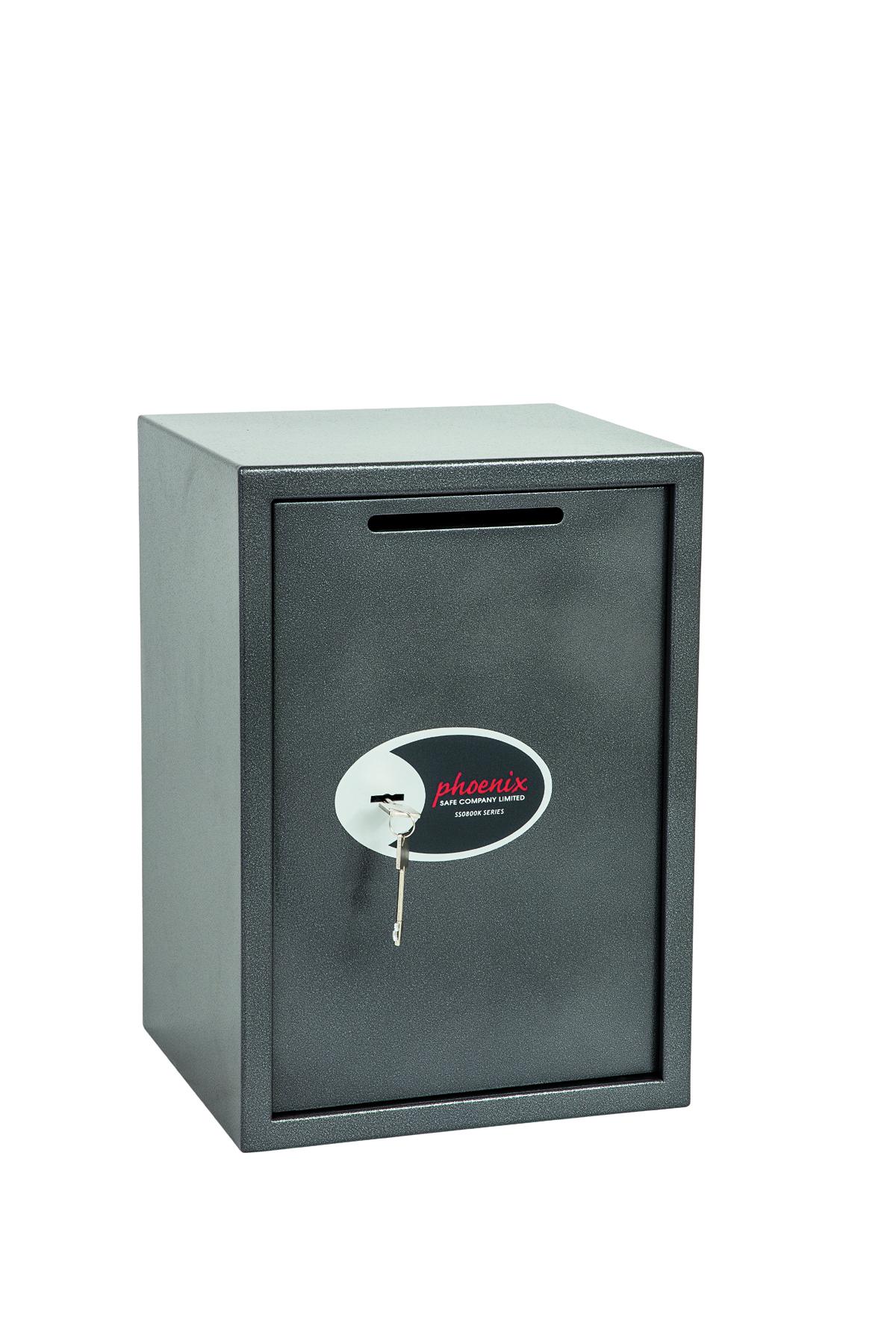 Phoenix Vela Deposit Home and Office Size 4 Safe Key Lock Graphite Grey SS0804KD
