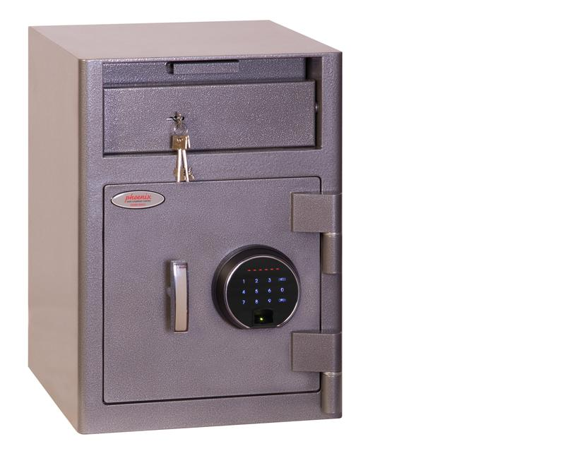 Phoenix Cash Deposit Size 1 Security Safe Finger Print Lock Graphite Grey SS0996FD