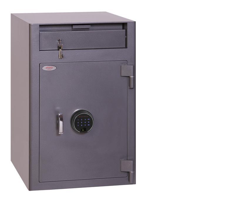 Phoenix Cash Deposit Size 3 Security Safe Finger Print Lock Graphite Grey SS0998FD