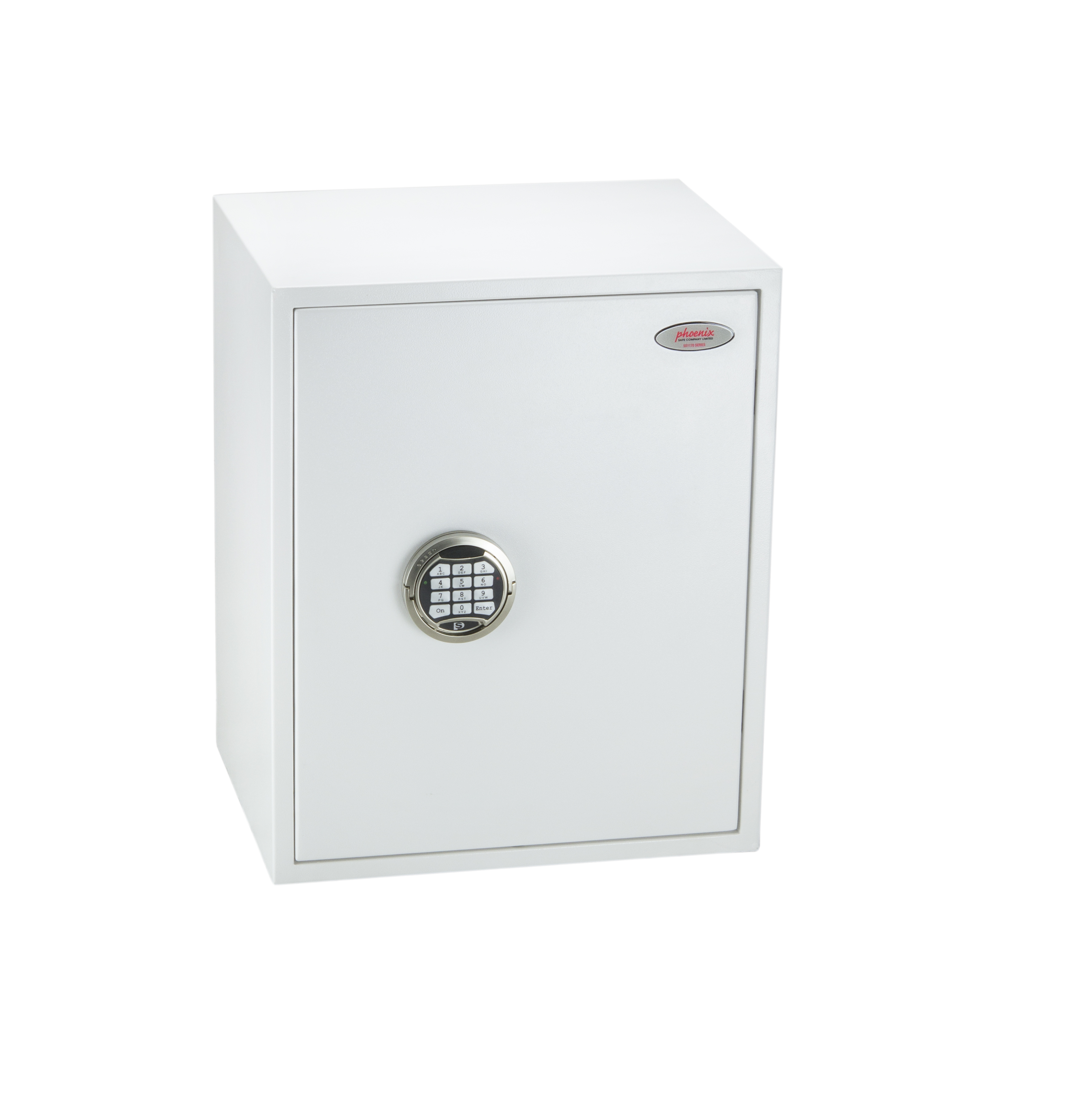 Safes Phoenix Fortress Size 3 S2 Security Safe Electronic Lock White SS1183E
