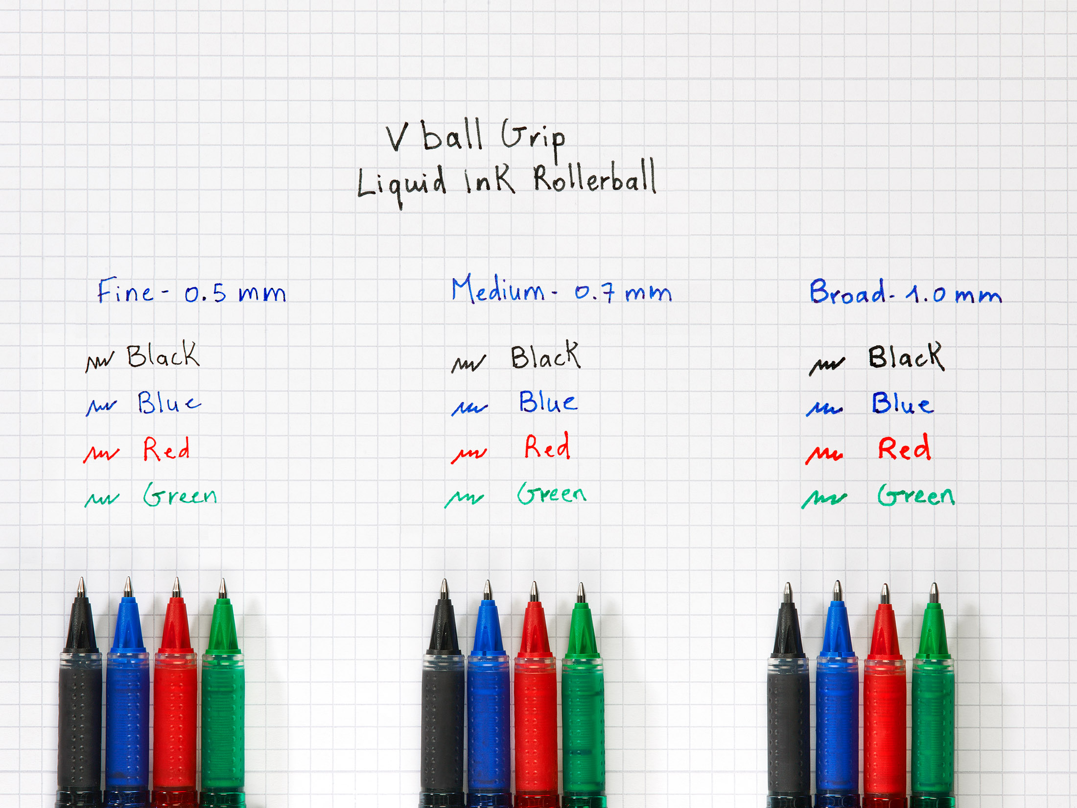 Pilot Vball Vbg5 Rollerball Pen With Rubber Grip 05mm Tip 03mm Rollarball Fountain Diagram A Line Blue Ref Blnvbg5 03 Pack 12