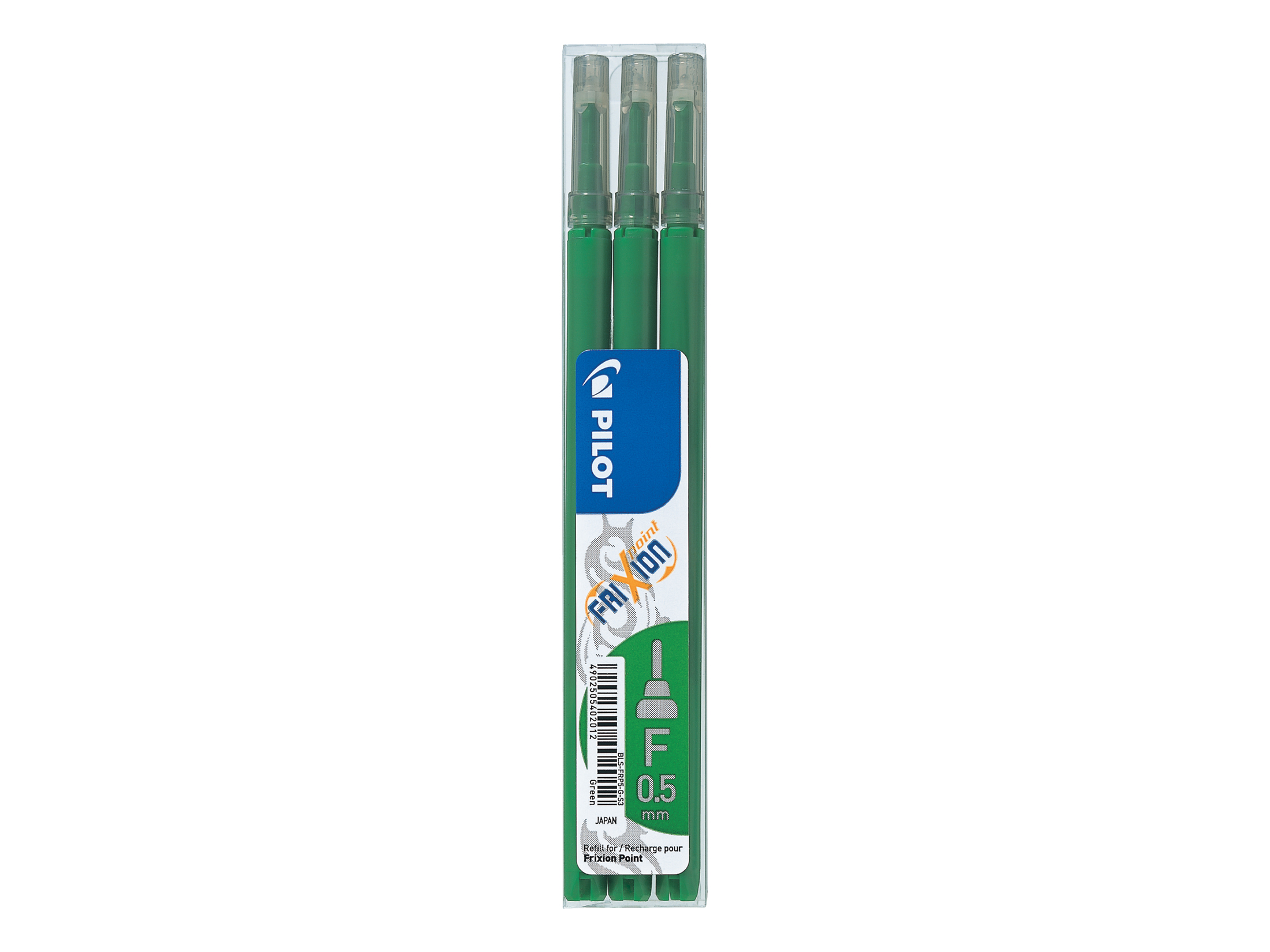 Pilot  FriXion (0.5mm) Point Pen Refill Green PK3