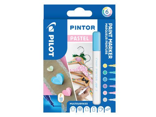 Pilot Pintor Fine Bullet Tip Paint Marker 2.9mm Pastel Assorted (Pack 6) 3131910517467