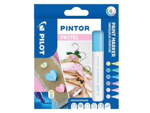 Pilot Pintor Medium Bullet Tip Paint Marker 4.5mm Pastel Assorted Colours (Pack 6) 3131910517474