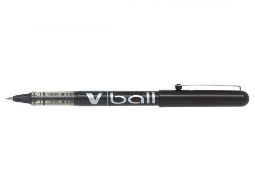 Pilot V-Ball VB5 Rollerball Pen Fine 0.5mm Tip 0.3mm Line Black Ref BLVB501 [Pack 12]