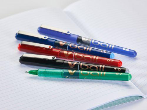 Pilot VB5 Rollerball Pen 0.5mm Tip 0.3mm Line Black Ref BLVB501 [Pack 12]