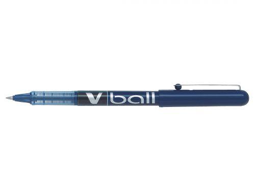 Pilot V-Ball VB5 Rollerball Pen Fine 0.5mm Tip 0.3mm Line Blue Ref BLVB5L [Pack 12]