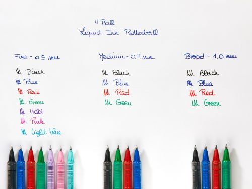 Pilot VB5 Rollerball Pen 0.5mm Tip 0.3mm Line Blue Ref BLVB5L [Pack 12]