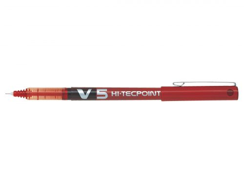Pilot V5 Red Hi Tec Liquid Rollerball 0.5mm PK12