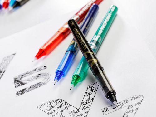 Pilot V5 Rollerball Pen Liquid Ink 0.5mm Tip 0.3mm Line Green Ref V504 [Pack 12]