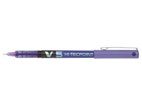 Pilot V5 Violet Hi Tec Liquid Rollerball 0.5mm PK12