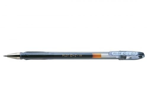 Pilot G107 Black Gel Rollerball 0.7mm tip PK12