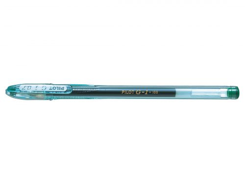 Pilot G107 Green Gel Rollerball 0.7mm tip PK12