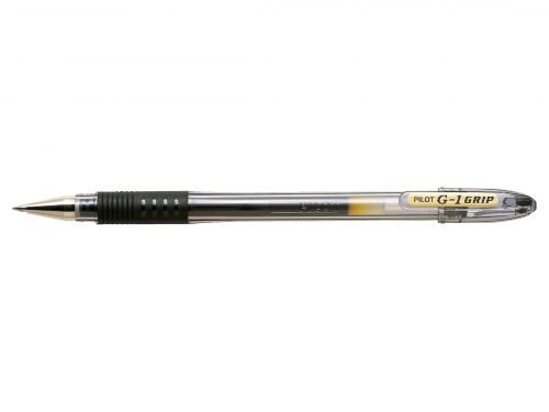 Pilot G1 Grip Gel Ink Rollerball Pen Black (Pack of 12) BLGPG107-01