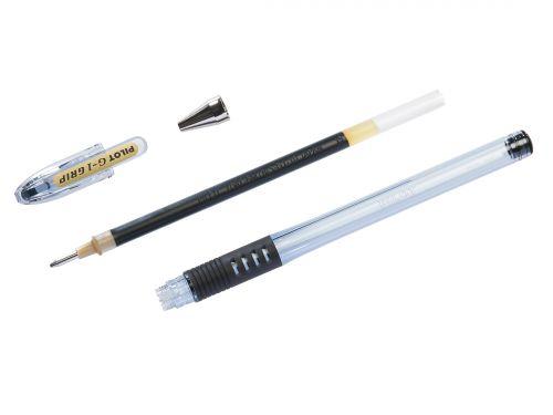 Pilot G-107 Grip Gel Rollerball Pen Fine 0.7mm Tip 0.39mm Line Black Ref BLGPG10701 [Pack 12]
