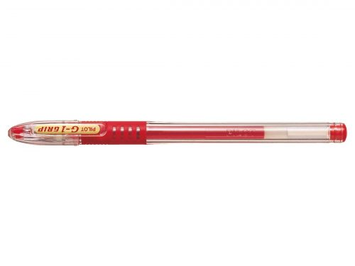 Pilot G-107 Grip Gel Rollerball Pen Fine 0.7mm Tip 0.39mm Line Red Ref BLGPG10702 [Pack 12]