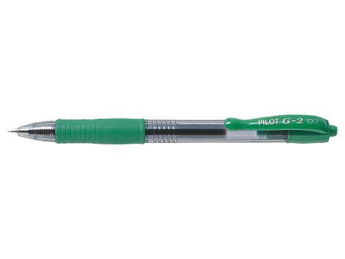 Pilot G207 Gel Retractable 0.7 Green PK12