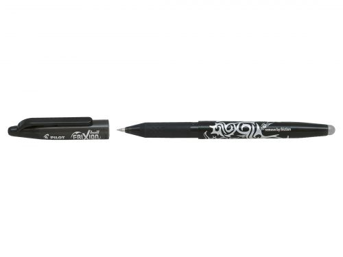 Pilot FriXion Rollerball Pen Eraser Rewriter Medium 0.7mm Tip 0.35mm Line Black Ref 224101201 [Pack 12]