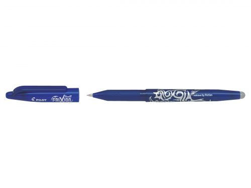Pilot FriXion Rollerball Pen Eraser Rewriter Medium 0.7mm Tip 0.35mm Line Blue Ref 224101203 [Pack 12]