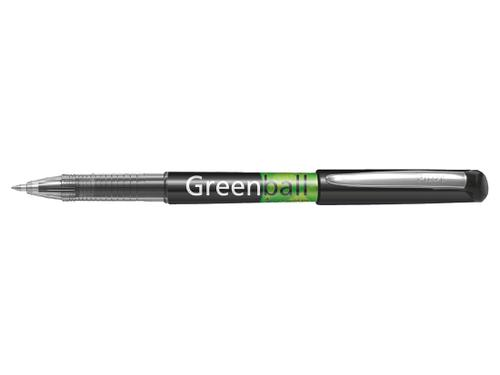 Pilot Begreen Greenball Liquid Ink Rollerball Pen Recycled 0.7mm Tip 0.35mm Line Black (Pack 10)