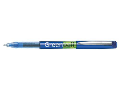 Pilot Begreen Greenball Liquid Ink Rollerball Pen Recycled 0.7mm Tip 0.35mm Line Blue (Pack 10)