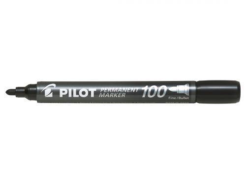 Pilot 100 Permanent Marker Bullet Tip 4.5mm Tip 1mm Line Black Ref 3131910501268 [Pack 15&5 Free]