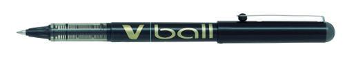 Pilot V-Ball Rollerball Pen Fine Black (Pack of 12) BLVB7-01
