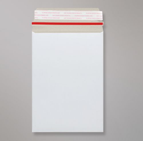 Pocket Peel & Seal C4+ All Board White 350gsm 352 x 249mm With Red Rippa Strip (Box 100) Code