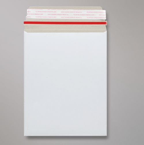 Pocket Peel & Seal C5+ All Board C5 White 350gsm 239 x 164mm With Red Rippa Strip (Box 200) Code